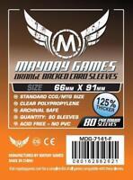 MAYDAY GAMES Matte Sleeves Orange 80ct Standard Card Size 66 x 91mm