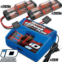 Traxxas EZ-Peak Plus iD Charger 2970 and (2) 2926X 8.4V 3000mAh NiMH Batterys
