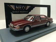 Neo Scale Models 1/43 Buick Park Avenue 1991 Bordeaux Met. Art. Neo44885