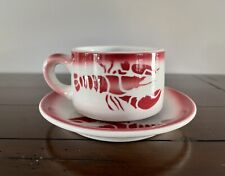 Jackson China Restaurant Ware Lobster Coffee Cup & Saucer