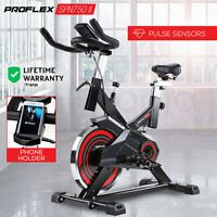 New PROFLEX Commercial Spin Bike Flywheel Exercise Home Workout Gym - Red