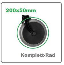 "Rollator RAD 200x50 mm Komplettrad 8x2"" Zoll Ersatz PU-Reifen Rollstuhl P452E"