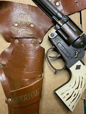 Vintage Halco Maverick Bronze Cap Gun and Holster Rare