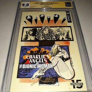 2x Signed CGC SS 9.0 Charlie's Angels vs. Bionic Woman #1 (2019 Cover B ) WP