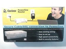 New Sealed CORINEX POWERLINE ROUTER Secure Cable/DSL Connection To Powerline  H