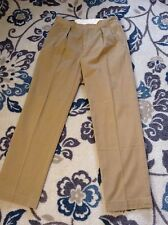 POLO Ralph Lauren Brown Pleated Chino Khaki Andrew Pant Dress Casual Size 33x32