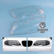 Lampcover Pair L+R Lens Cover Headlight Lampshade For BMW E46 4Door 2002-2006