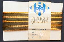 25m impresionante Vintage Oro Metálico Cinta 8 Mm De Ancho