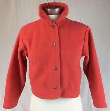 Black Diamond Orange Jacket Jr Lg or Women's Petite Sm Polar Fleece Button Down