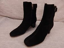 Aquatalia by Marvin K Ankle Boots Black Suede Made Italy Size 8 B