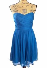 NEW J.Crew M 6 Dress Arabelle silk chiffon dark blue strapless pleat party NWT