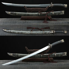 High Quality Clay Tempered Folded Steel Blade Chinese Sword Qing Dao Sharp Edge