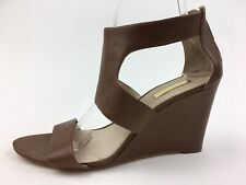 Louise et Cie 'Rozza' Wedge Sandals Women's Size 10 M, Brown Leather 2246