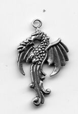 925 Sterling silver CELTIC DRAGON Charm Pendant  4gr 18x20mm 3815