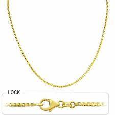10.00gm 14k Solid Yellow Gold Mens Women Box Polished Necklace Chain 1.70mm 18""