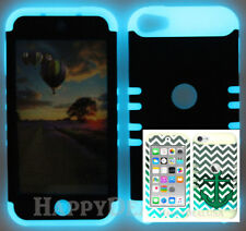 For Apple iPod Touch iTouch 5 | 6 KoolKase Hybrid Cover Case Chevron Anchor 28
