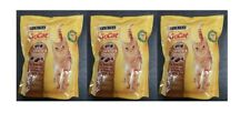 3 packs x Purina GoCat crunchy and tender dry cat food with chicken, turkey