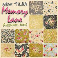 Tilda Memory Lane Blue Green Floral 100% Cotton Patchwork Fabric Fat Quarters
