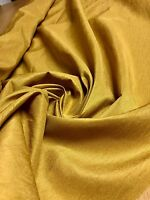 BEAUTIFUL GOLD POLYESTER SILK EFFECT FABRIC 1.4 METRES
