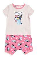 Bluey Pink Baby Girl Sleepwear Pyjamas PJ 2 Pcs Sizes 0 1 2  BRAND NEW WITH TAGS