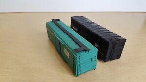 AHM & Bachmann HO Scale Train Freight Car Reefer Box Set Pair 2 Parts or Repair
