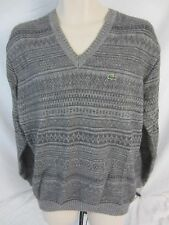 Lacoste Alpaca Blend V-Neck Gray Pull Over Sweater - Men's Size 6 Large - GG128