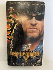 Wwe Wwf Unforgiven 2000 Return of Stone Cold Steve Austin New Wrestling Vhs Tape