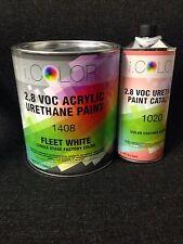 Fleet White Gallon Kit Single Stage ACRYLIC URETHANE  Auto Paint Kit