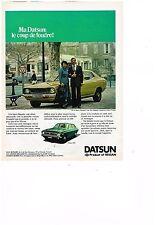 PUBLICITE ADVERTISING  054  1977  DATSUN   120Y  Mr&MME  MAUPETIT