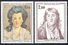 MONACO 1976 principe/principessa/ROYALTY/Royal/arte/DIPINTI/PEOPLE 2 V Set (n40299)