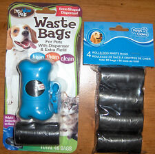 """Dog Waste Bags Paws - N - Claws + Bow Wow Pals Waste Bag Bone Holder """"120 """"Bags"""