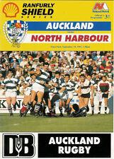 Auckland v Canterbury 12 Sep 1992 Ranfurly Shield, NZ Rugby Programme