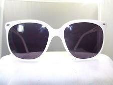 """Vintage Maui Jim """"CAT EYE"""" WHITE FRAME /Grey Lenses 70% 100% UV PROTECTION"""