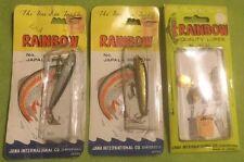 Vintage ~ Tackle ~ Rainbow ~ 2 Japala Minnows ~ Lures No 197-2G ~ Nos