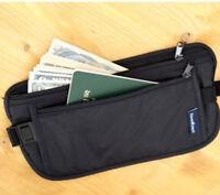 EG_ New Unisex Travel Security Zipped Money Bum Pouch Passport Waist Belt Bag Pe