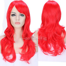 HOT Cosplay Hair Wig Girly Ombre Long Curly Straight Wig Anime Party Costume #s&
