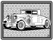 Coloring Page - Retro Car # 8 (Hi-Res JPG file will be sent by email)