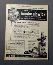 PUB PUBLICITE ANCIENNE ADVERT CLIPPING 23917 BOMBE AIR-WICK A BASE DE CHOROPHYLL