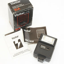 VIVITAR 16A AUTOMATIC Flash Gun BOXED WITH MAUUAL