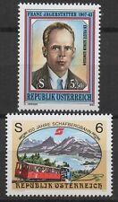 Austria 1993 Sc# 1623+1624 Mint MNH Jagerstatter portrait, train railway stamps