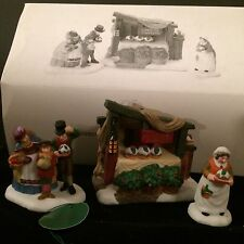 "Dept 56 Dickens Accessory ""Christmas Pudding Costermonger #58408 set/3 Nib"