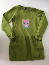 Oilily Girls Dress, Size Age 10 Years, 140 Cm, Green, Vgc