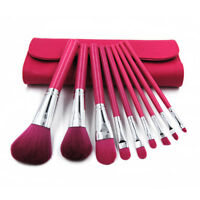 9Pcs Makeup Brushes Set Eyeliner Lip Brush Contour Foundation Shadow + Case New