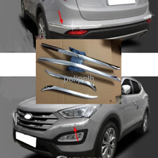 Chrome Bumper Guard Protector Cover Trim For 2013-2017 Hyundai Santa Fe Sport