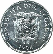 COIN / ECUADOR / 5 SUCRES 1988   UNC    #WT18177