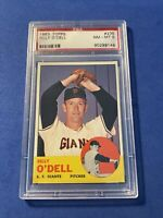 1963 Topps SETBREAK #235 Billy O'Dell San Francisco Giants PSA 8 NM-MT