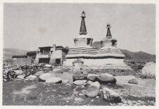 D8129 - Tibet - Ciòrten nel villaggio di Ghià - Stampa d'epoca - 1931 old print