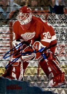 Chris Osgood Signed 1995/96 Fleer Metal Card #49 Detroit Red Wings