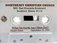 Sermon - STUART JONES  What On Earth Am I Here For? - Northeast Christian Church