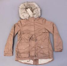 H&M Women's Divided Zip-Up Pile-Lined Parka MC7 Dusty Rose Size US:6 EUR:38 NWT